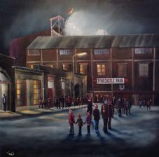 'The Final Queue' Hearts Tynecastle - 11'' x 11'' approx poster print